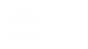 The Public Speaking Institute White Logo