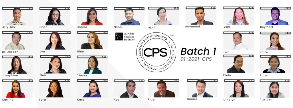 Certified Public Speakers Batch 1-2021